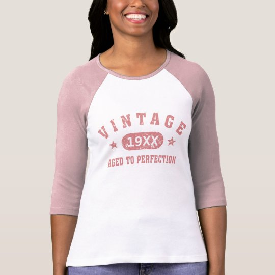 Personalise Pink Vintage Aged to Perfection Shirt