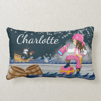 Personalise Polyester Pirate Dreamscape Scene Lumbar Cushion