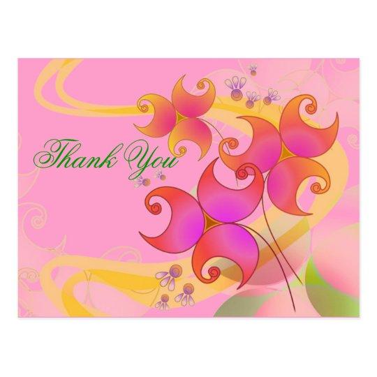 Personalise Pretty Flowers Postcard