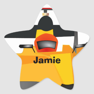 Personalise Race Car Birthday Party Gifts Star Sticker