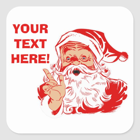 Personalise Santa Claus Stickers