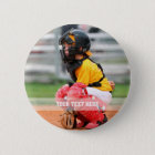 Personalise Sports Photo 6 Cm Round Badge