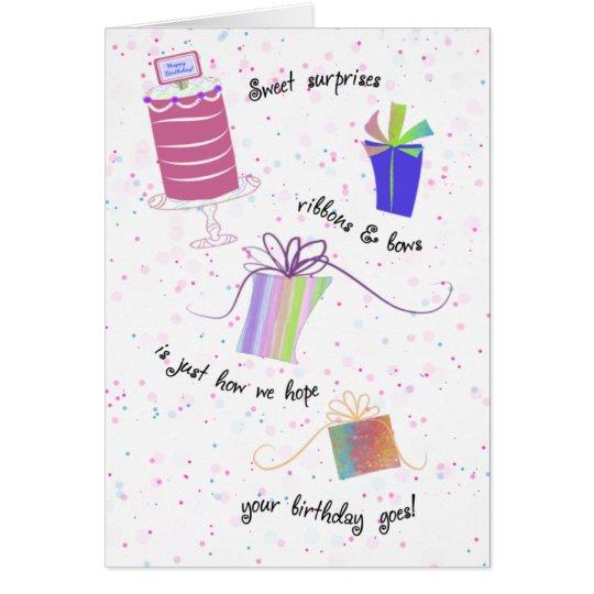 Personalise Sweet Surprises Birthday Card