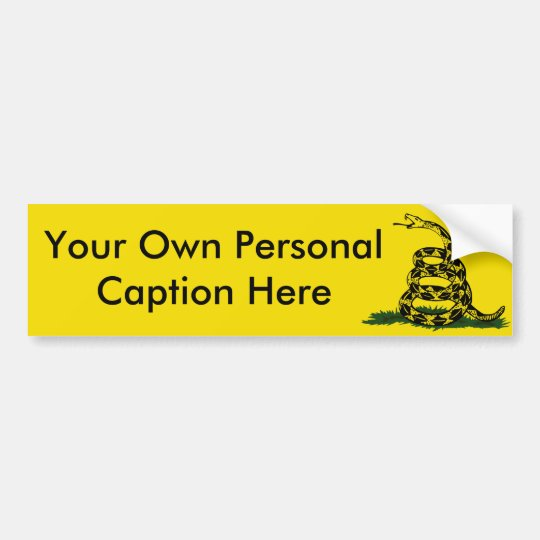 Personalise The Bumper Sticker