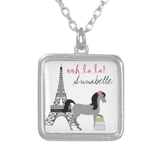 Personalise The Pretty Ponies Paris Horse Necklace