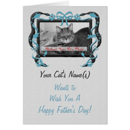 Personalise this Father's Day Card from the Cat!