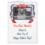 Personalise this Father's Day Card from the Dog!