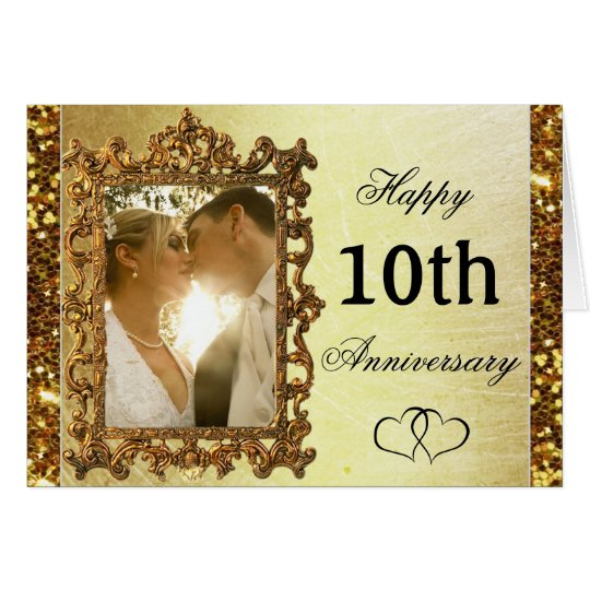 Personalise this Gold Anniversary Card