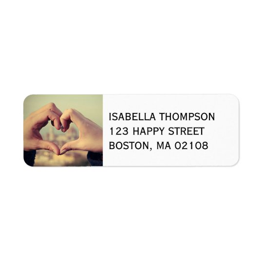 Personalise this Heart Return Address Label