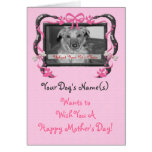 Personalise this Mother's Day Card from the Dog!
