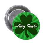 Personalise This St Patrick's Day 6 Cm Round Badge