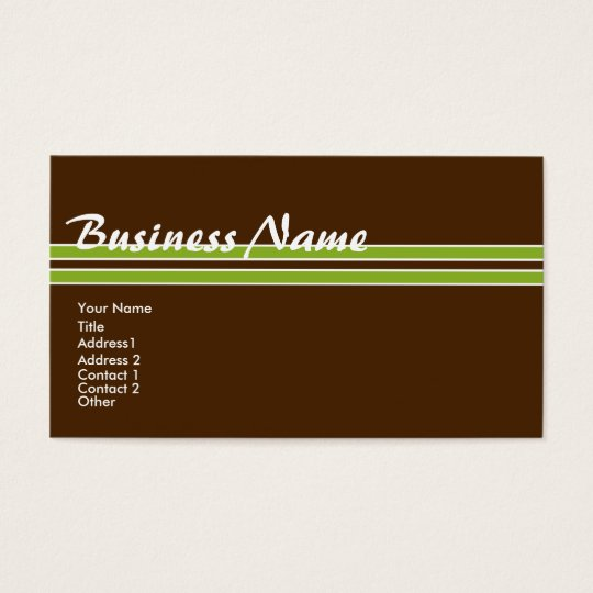 Personalise Tropical Colours Profile/Business Business Card