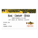 Personalise Trout FishiNG Pack Of Standard Business Cards