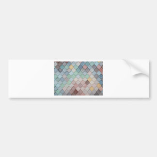 Personalise unique modern tile design photograph bumper sticker