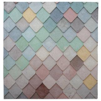 Personalise unique modern tile design photograph cloth napkins