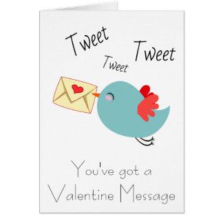 Personalise Valentines Tweet Love Card