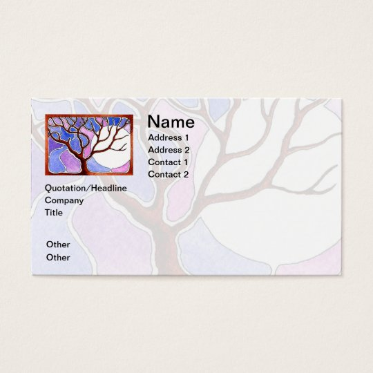 Personalise Watercolor Tree and Moon - Blue Pink