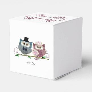 Personalise Wedding Owls Favour Box