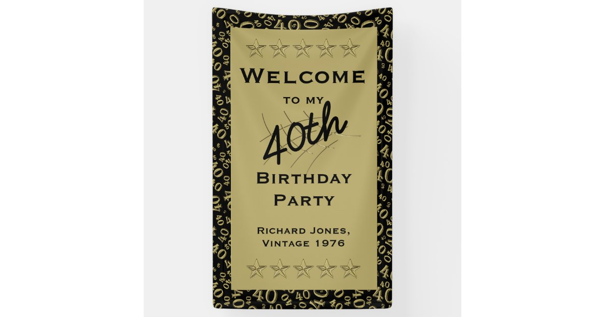 Personalise Welcome To My 40th Birthday Party Banner