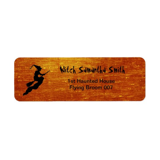 Personalise: Witch in Flight on Broom Silhouette