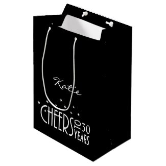 Personalise with Any Age Cheers Paper Gift Bag