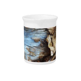 Personalise wood bark texture design photo pitcher