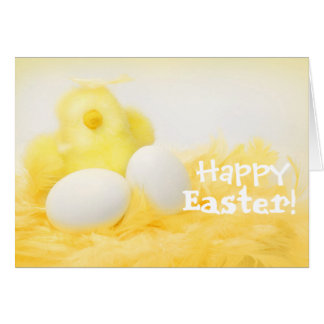 Personalise Yellow Chick Easter Card