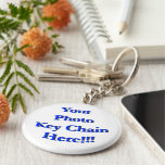 (Personalise) Your Custom Design or Image Basic Round Button Key Ring