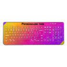 Personalise your multicolor swirls, wireless keyboard