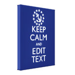 Personalise Your Nautical Keep Calm And Edit Text Canvas Print