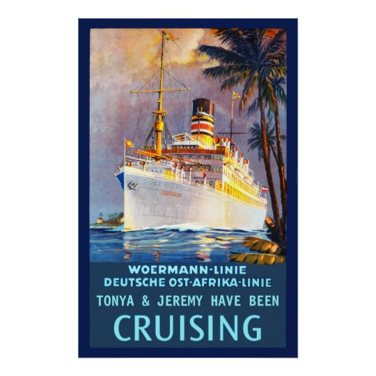 Personalise Your Own Vintage Cruising Poster