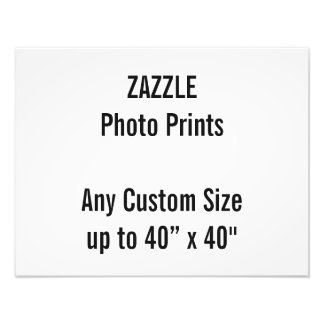 "Personalised 18"" x 14"" Photo Print, or custom size"