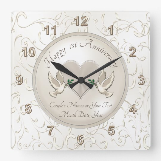 Personalised 1st Wedding Anniversary Gifts: Personalised 1st Wedding Anniversary Gifts, Clock