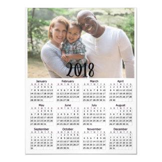 Personalised 2018 Calendar Magnetic Photo Card
