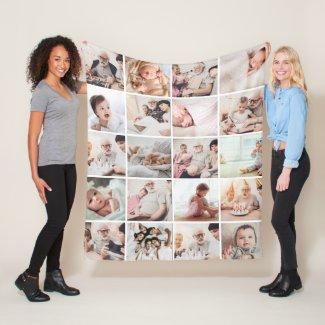 Personalised 20-photo blanket