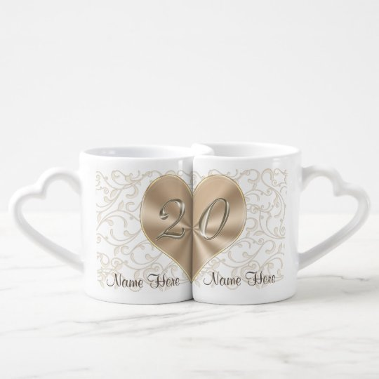 Personalised 20 year Anniversary Gifts for Couples Coffee