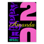 Personalised 20th Birthday POP Greeting Card