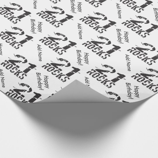 Personalised 21st Birthday - 21 Rocks Wrapping Paper