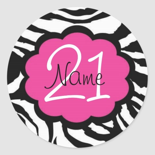 Personalised 21st Birthday Sticker