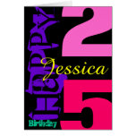 Personalised 25th Birthday POP Greeting Card