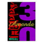 Personalised 30th Birthday POP Greeting Card