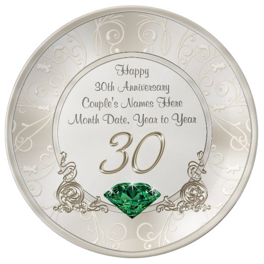 Personalised 30th Wedding Anniversary Gift Ideas Plate Zazzle