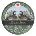 Personalised 35th Wedding Anniversary, Geese Plate