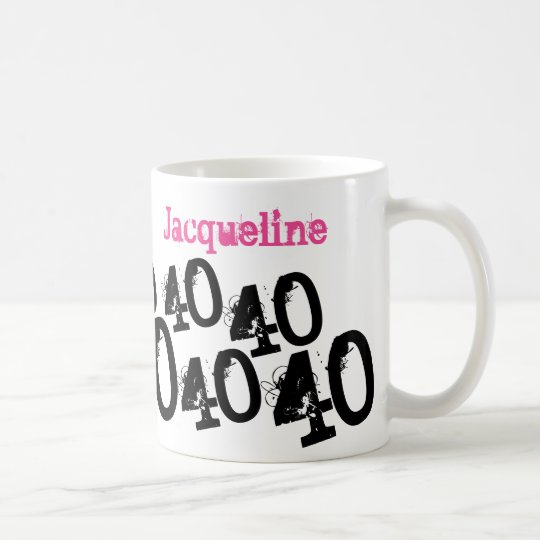 Personalised 40th Birthday Pink Coffee Mug