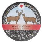 Personalised 40th Wedding Anniversary, Buck & Doe Plate