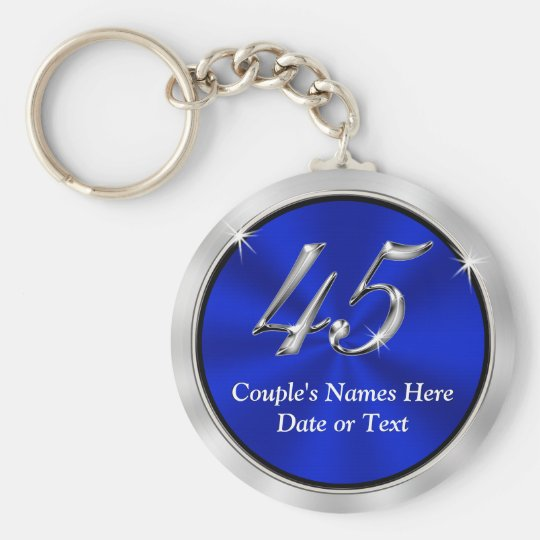 Personalised 45th Anniversary Favours, Keychains