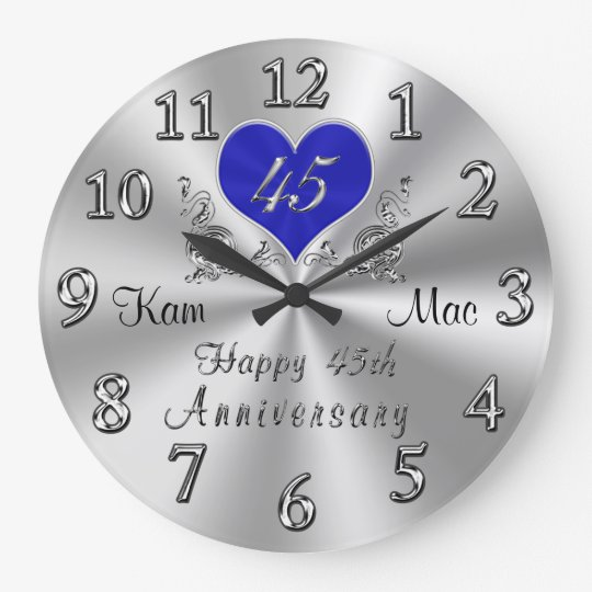 Personalised 45th Wedding Anniversary Gifts Clock Zazzle