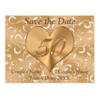 Personalised 50th Anniversary Save the Date Cards