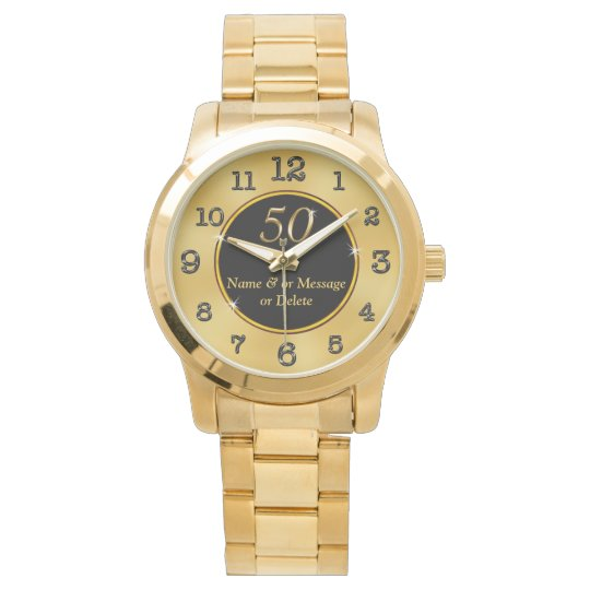 Personalised 50th Birthday Gift Ideas Women Or Men Watch