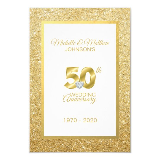 Personalised 50th Golden Wedding Anniversary Invitation